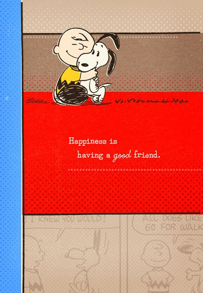 Peanuts Good Friend Great Birthday Card Greeting Cards