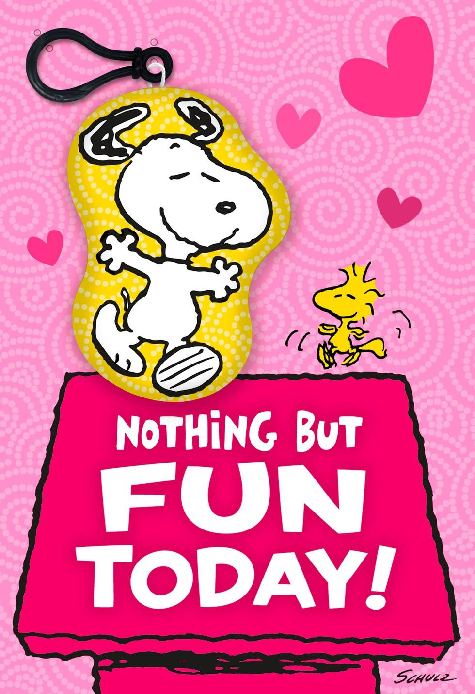 Peanuts Snoopy And Woodstock Valentines Day Card With
