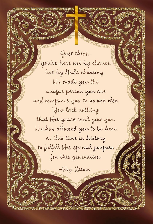 Glitter Frame With Cross Clergy Appreciation Card - Greeting Cards - Hallmark