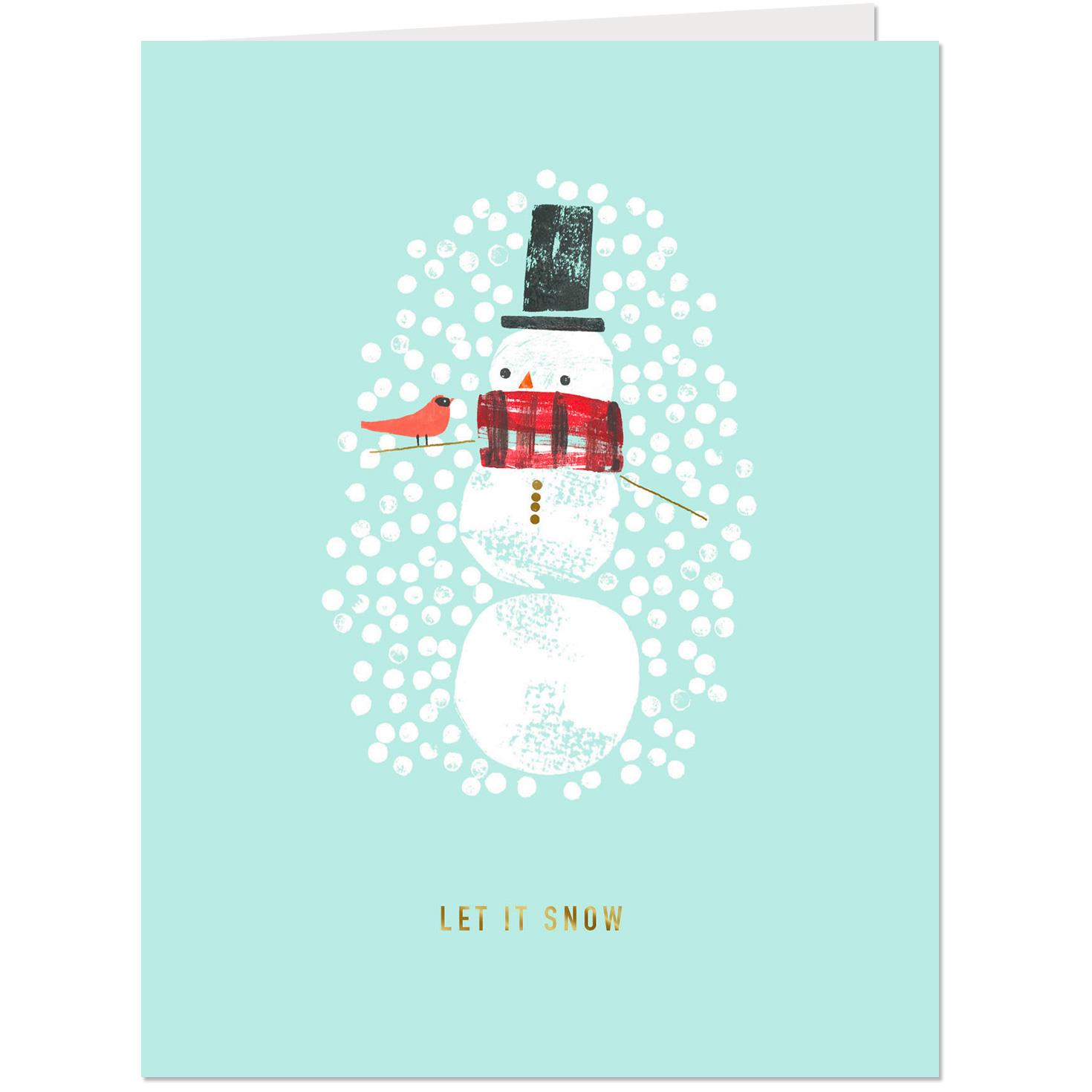 Baby Logo Collection: Let It Snow Christmas Card