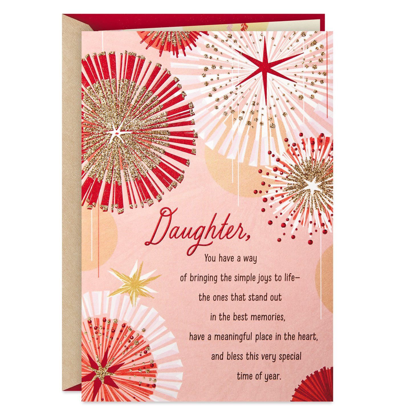 a beautiful gift religious christmas card for daughter