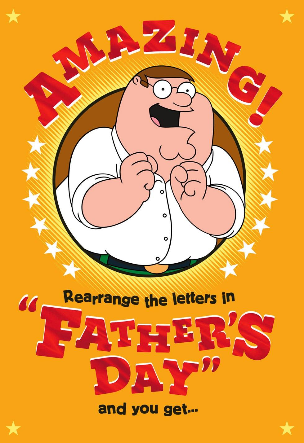 Family Guyu2122 Funny Fatheru0026#39;s Day Card - Greeting Cards ...