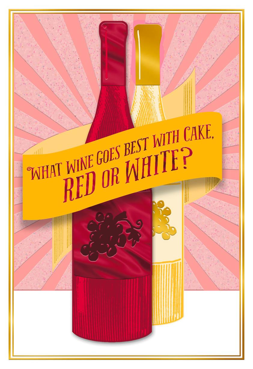 Wine and cake funny birthday card greeting cards hallmark wine and cake funny birthday card bookmarktalkfo Image collections