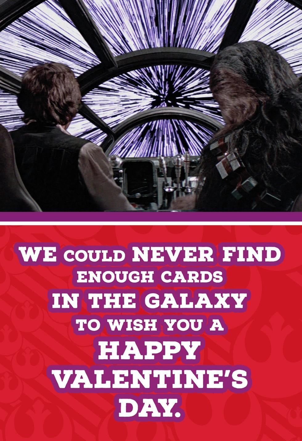 Han Solo™ and Chewbacca™ Valentine\'s Day Card for Anyone - Greeting ...