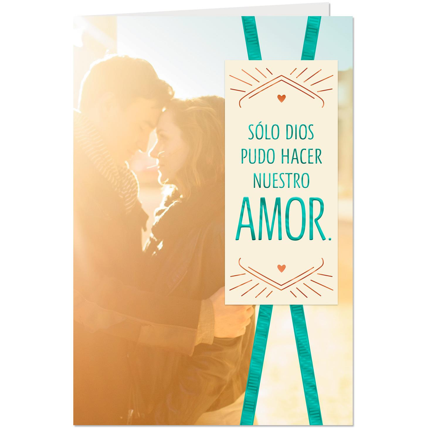 Godly Love For Each Other: God Made Us For Each Other Spanish-Language Love Card