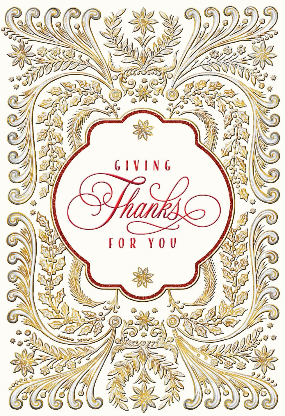 Giving Thanks For You Christmas Card Greeting Cards