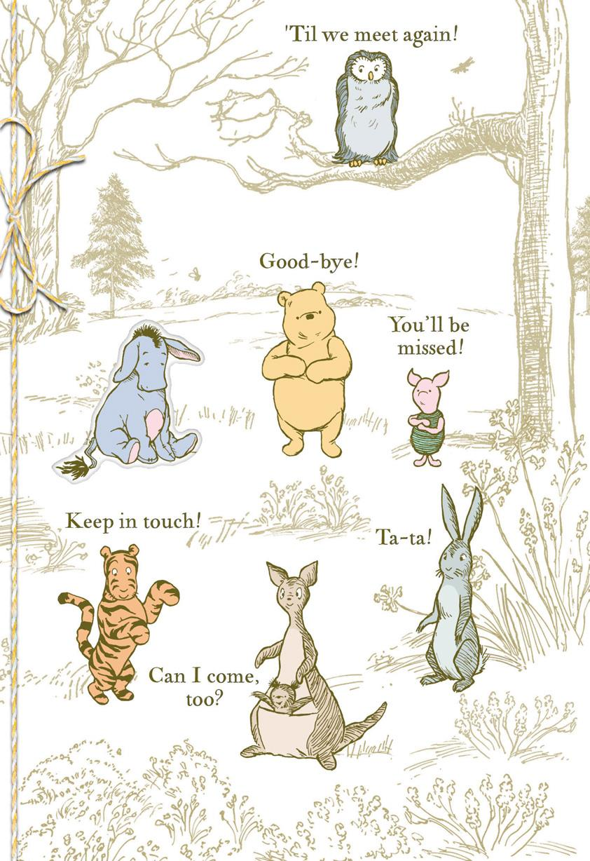 Winnie the Pooh Characters Goodbye Card From Group | Tuggl