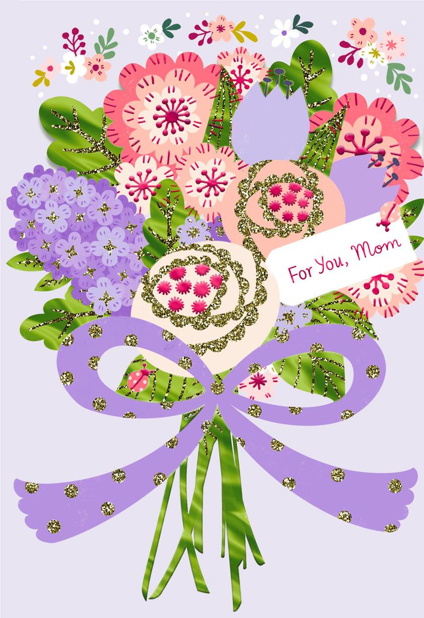 God 39 s pure love flower bouquet easter card for mom Hallmark flowers