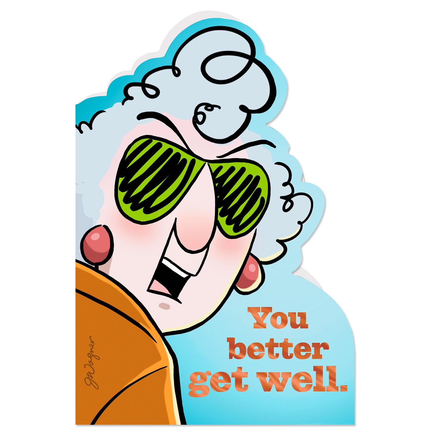 Maxine People I Like Funny Get Well Card Greeting Cards
