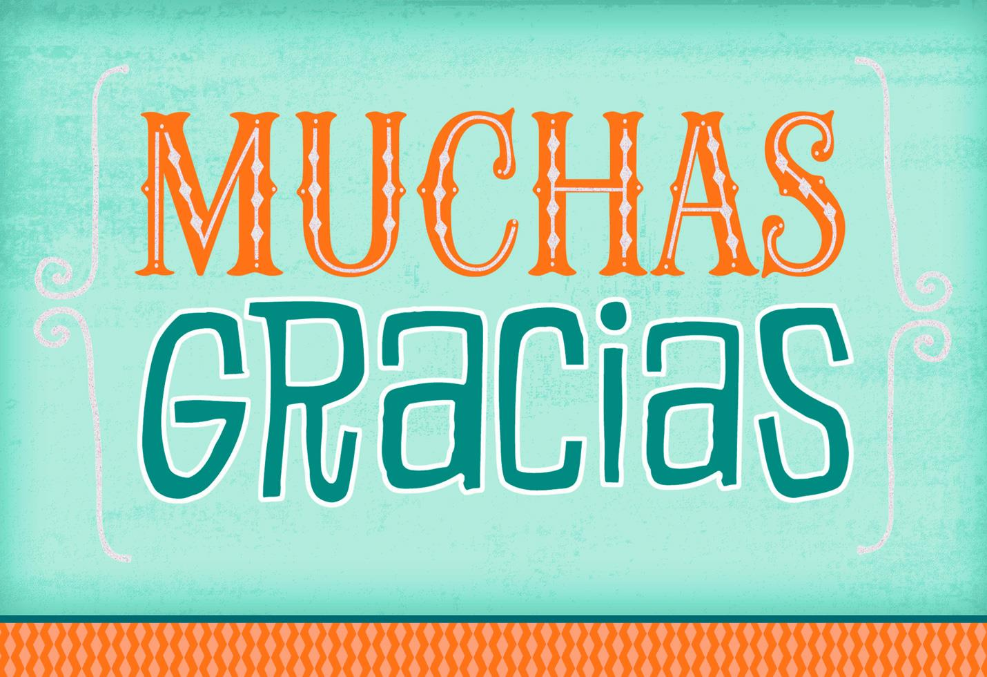 Many Thanks Spanish-Language Thank You Card - Greeting Cards ...