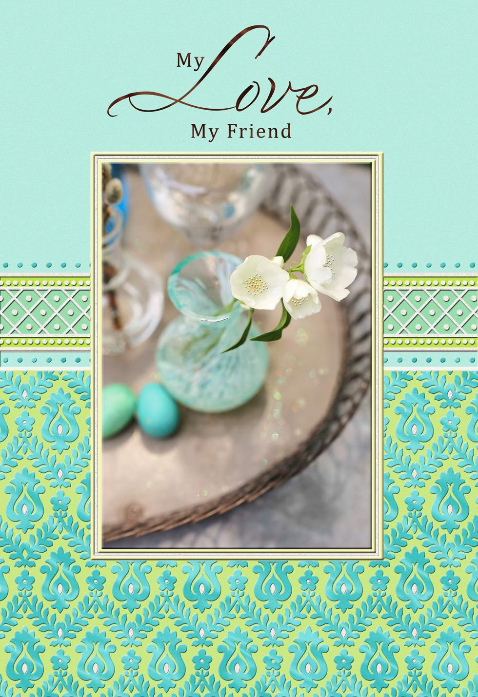 My Love My Friend Romantic Easter Card Greeting Cards