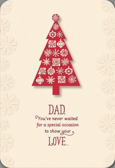 loving dad christmas tree card - Christmas Tree Card