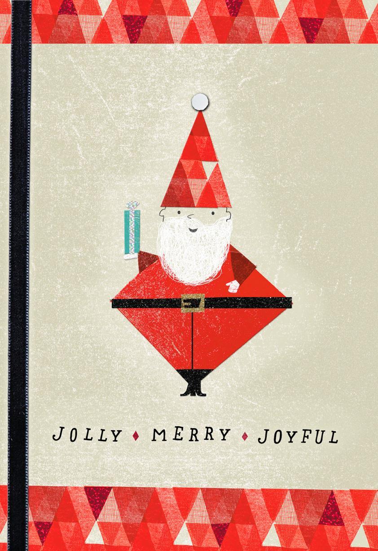 Jolly Merry Joyful Christmas Card Greeting Cards Hallmark