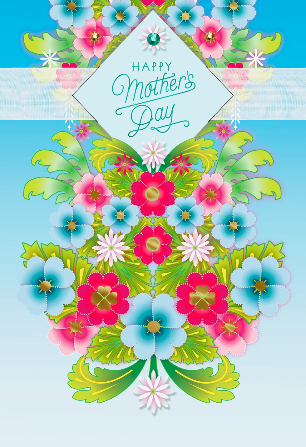 Catalina estrada cascading flowers mother 39 s day card Hallmark flowers