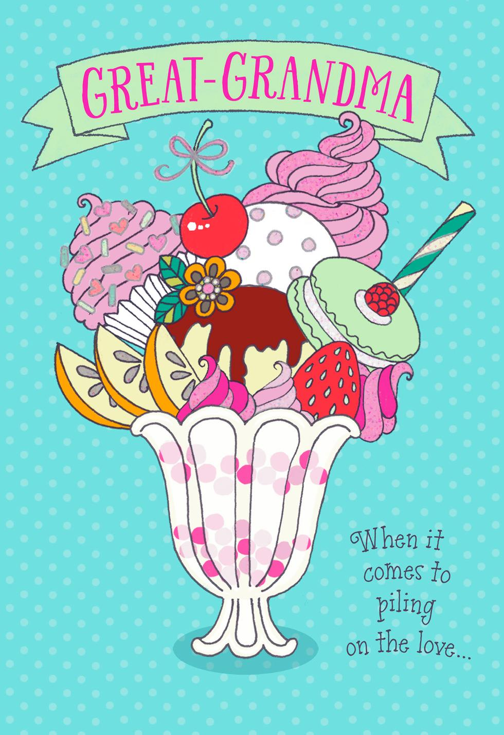 sweet sundae grandparents day card for great