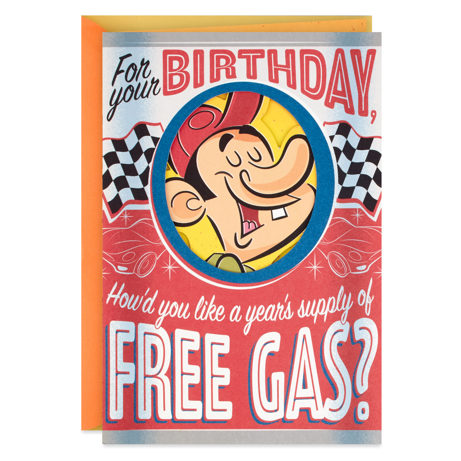 Years Supply Of Free Gas Funny Birthday Card