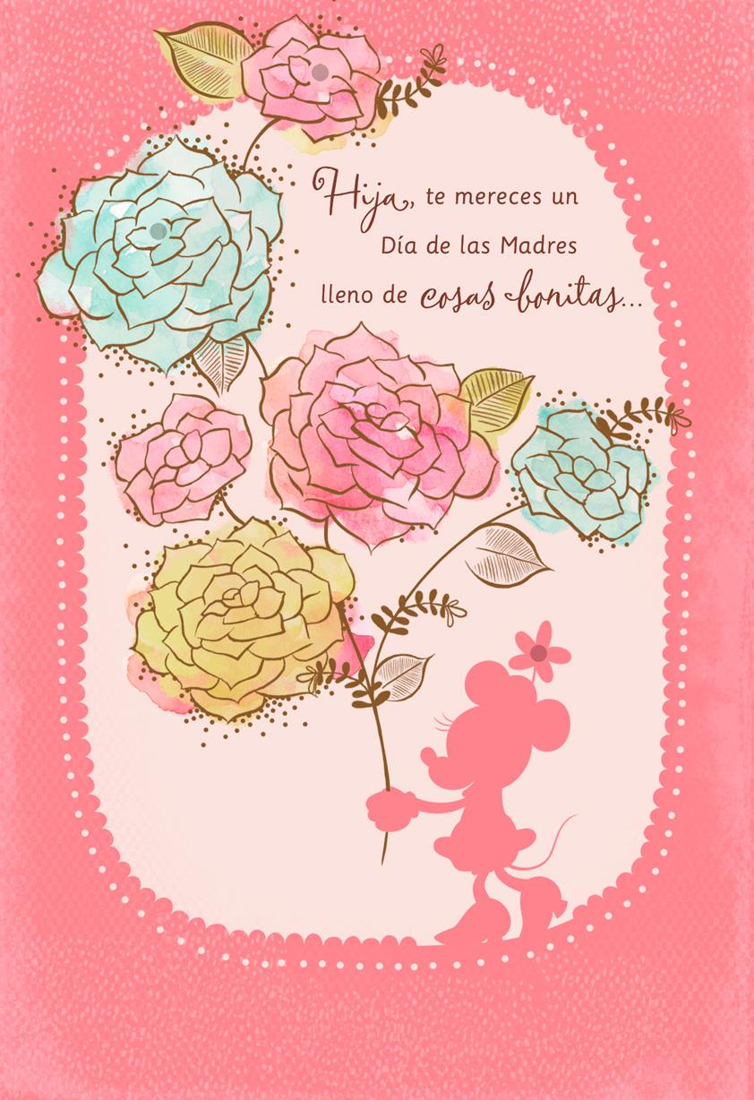 beautiful day minnie mouse spanishlanguage mother's day