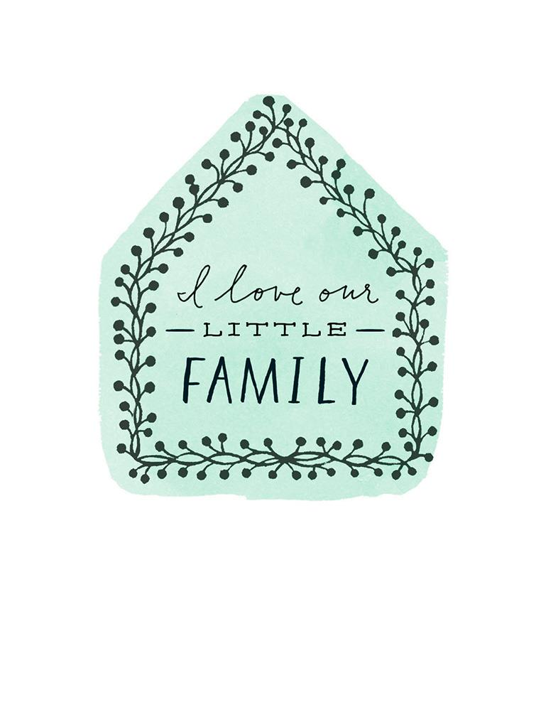 I love our little family anniversary card greeting cards
