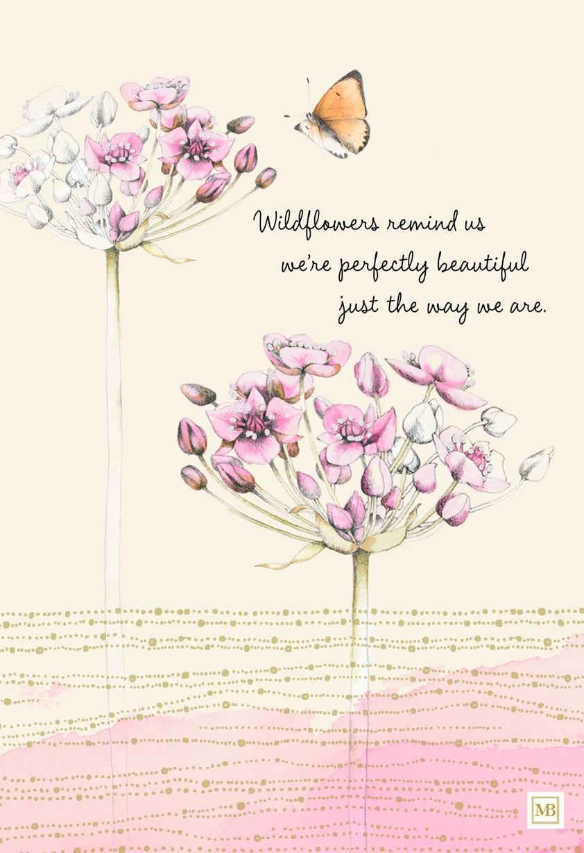 Wildflowers And Butterfly Marjolein Bastin Birthday Card Greeting