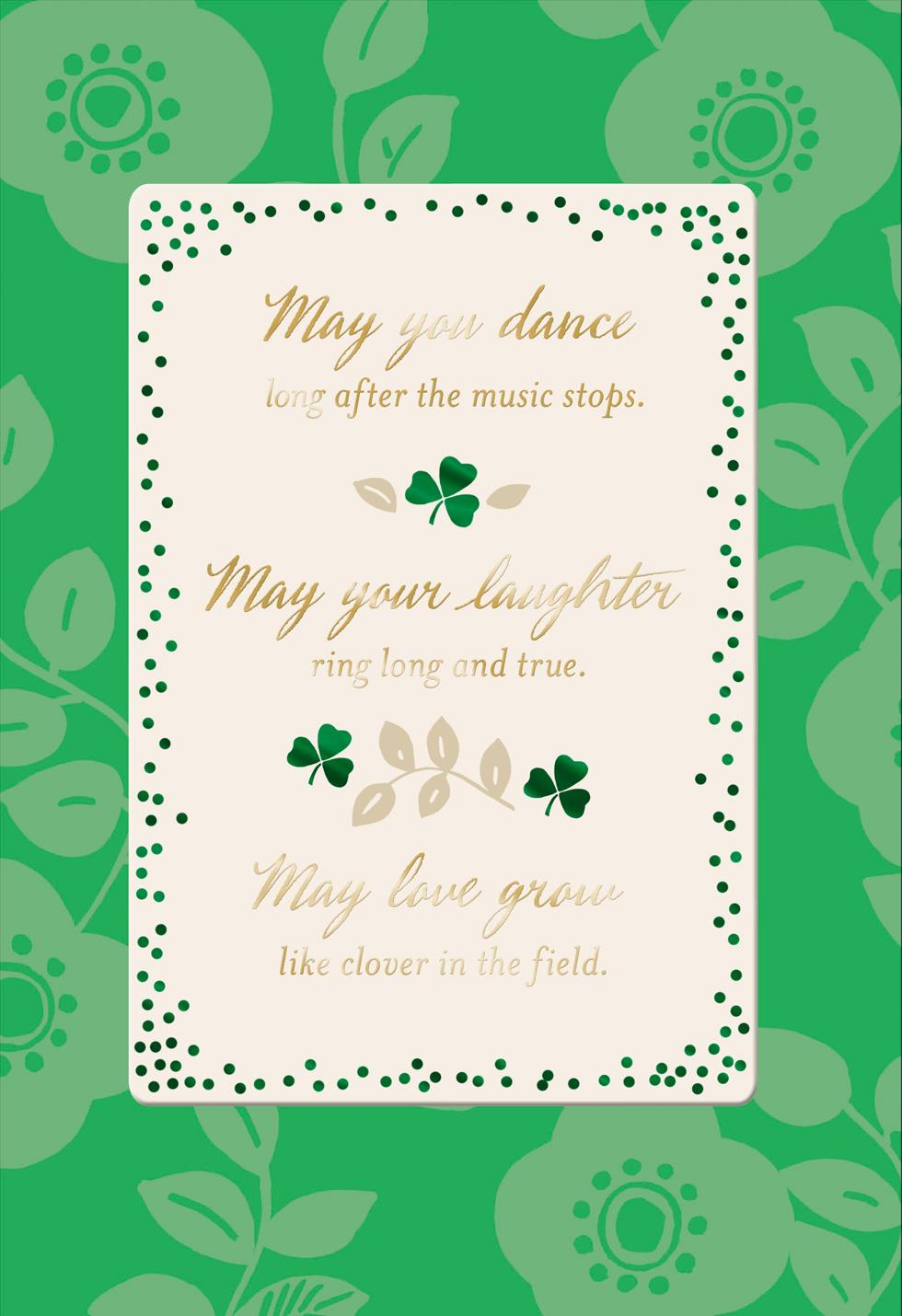 May You Dance Laugh And Love St Patrick S Day Card