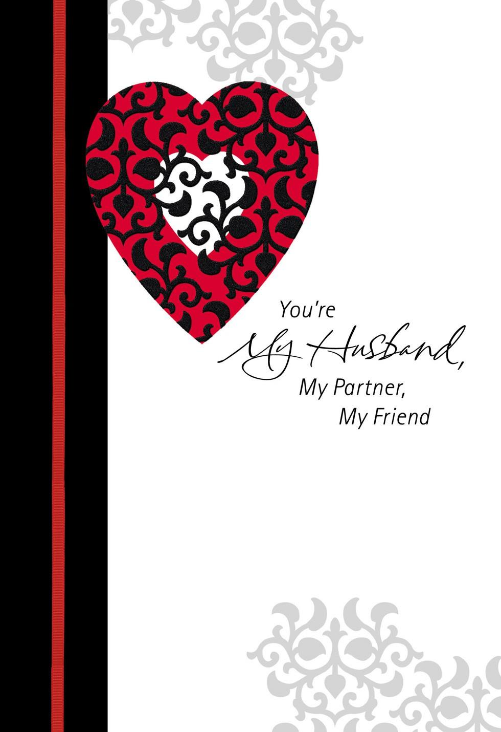 Husband Partner Friend Valentines Day Card Greeting Cards – Valentines Day Card for Husband