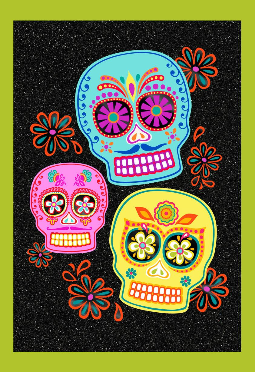Sugar Skulls Happy Halloween Card Greeting Cards Hallmark