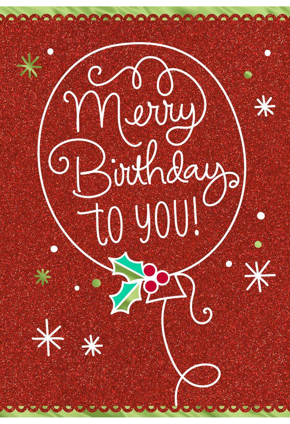 Merry birthday december 25th birthday christmas card greeting merry birthday december 25th birthday christmas card bookmarktalkfo Images