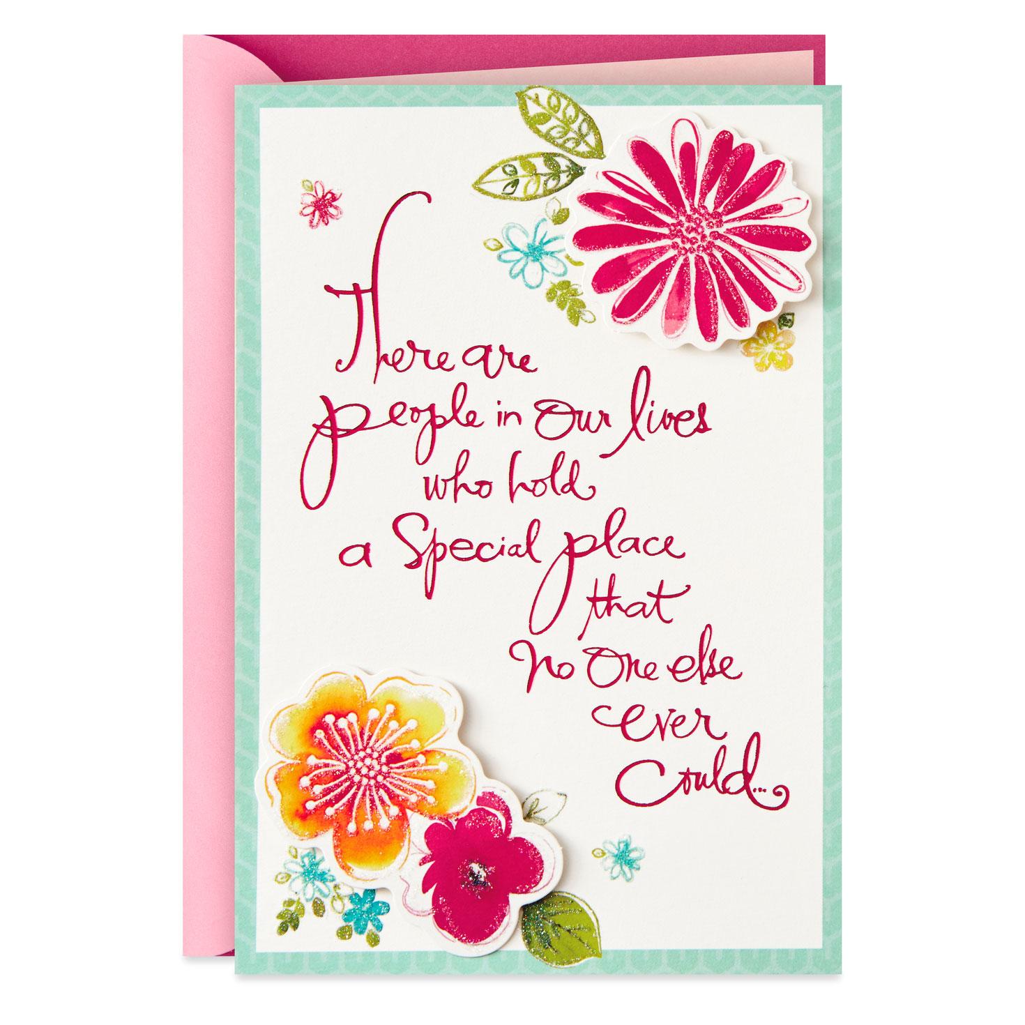 bright flowers for a dear friend birthday card  greeting