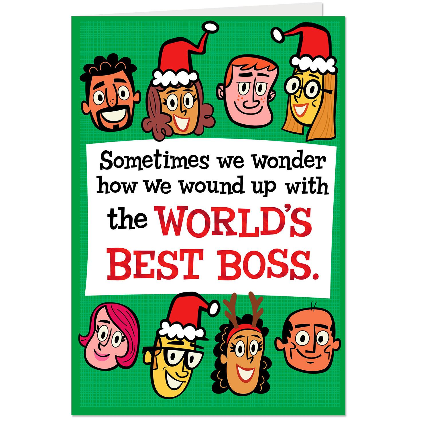 You Are The Worlds Best Boss Pop Up Christmas Card From All Of Us