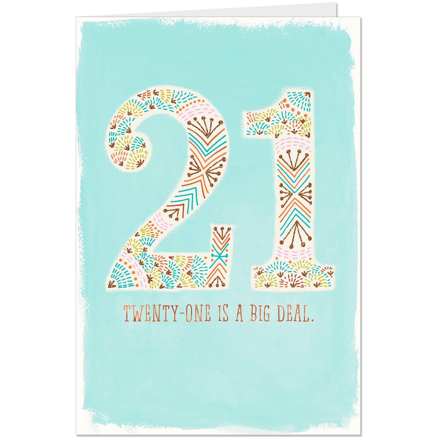 A Big Deal 21st Birthday Card