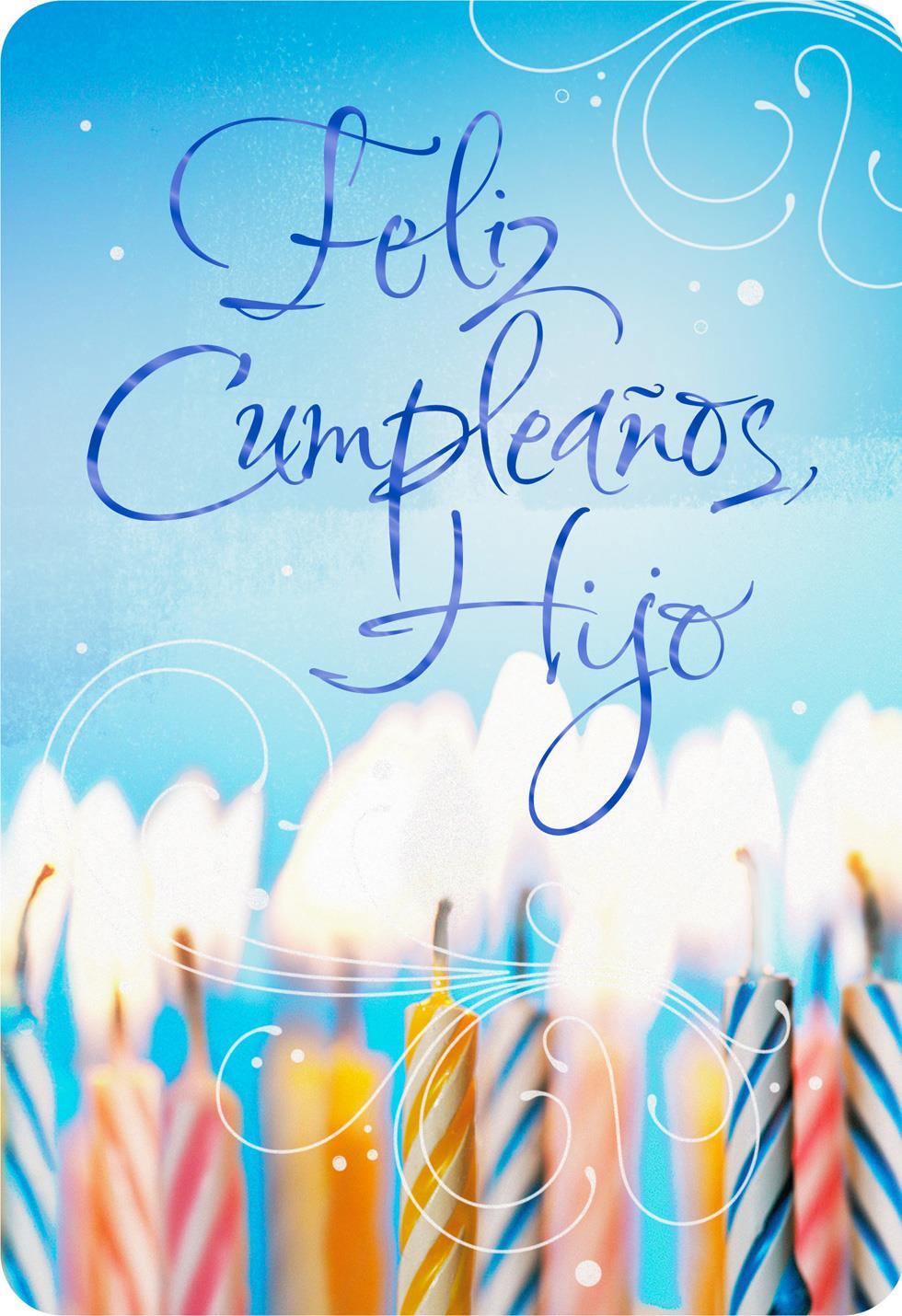 Every Moment With Joy Spanish Language Son Birthday Card