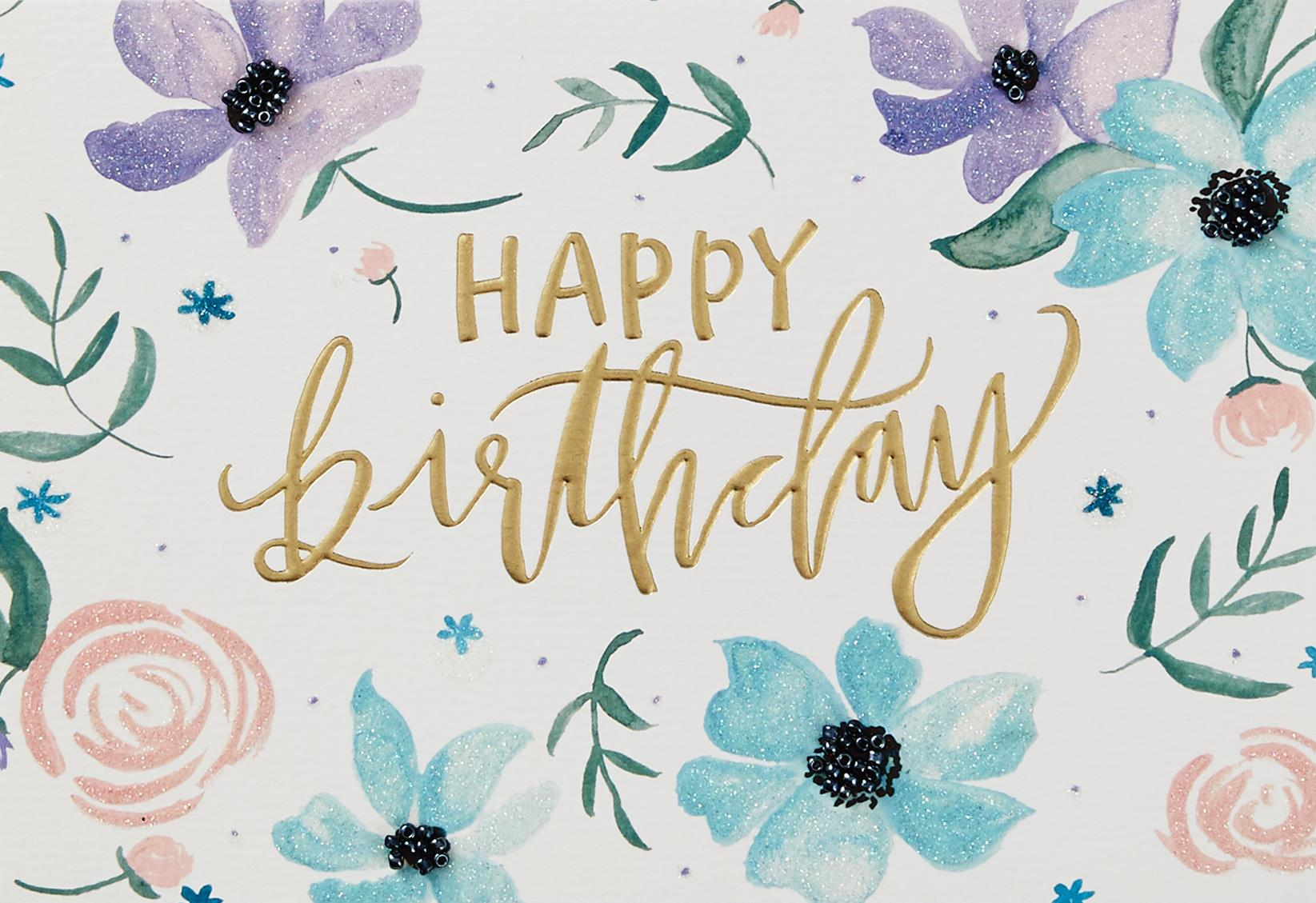 lovely you painted flowers birthday card  greeting cards