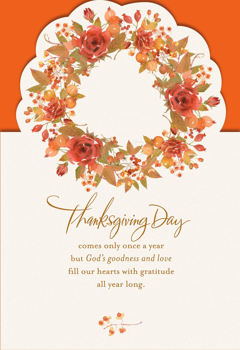 thank god for you religious thanksgiving card