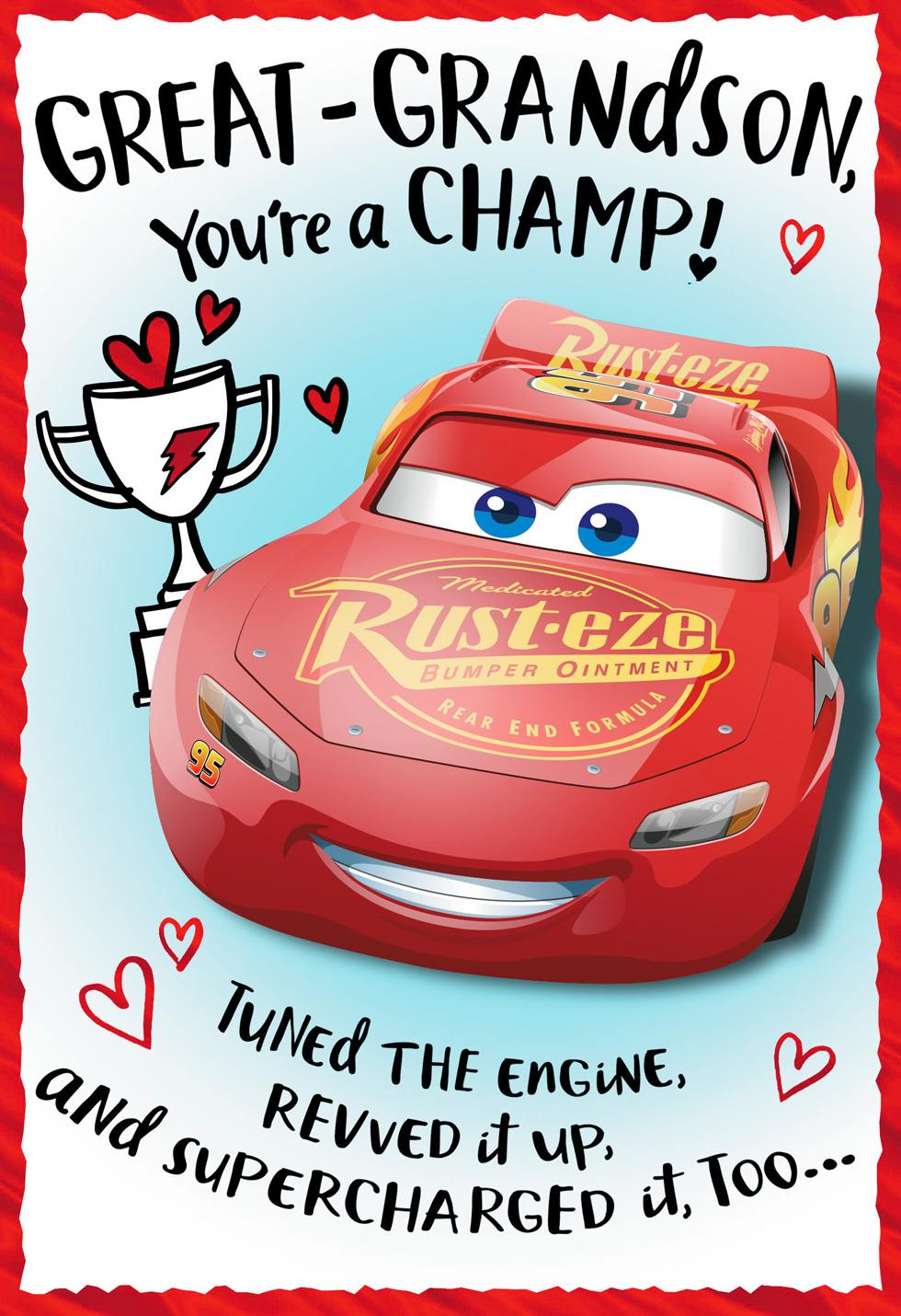 Disney Pixar Cars You Re A Champ Valentine S Day Card