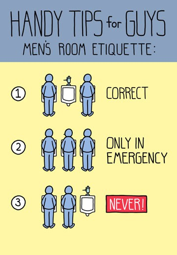 Manly Bathroom Etiquette Funny Birthday Card Greeting Cards