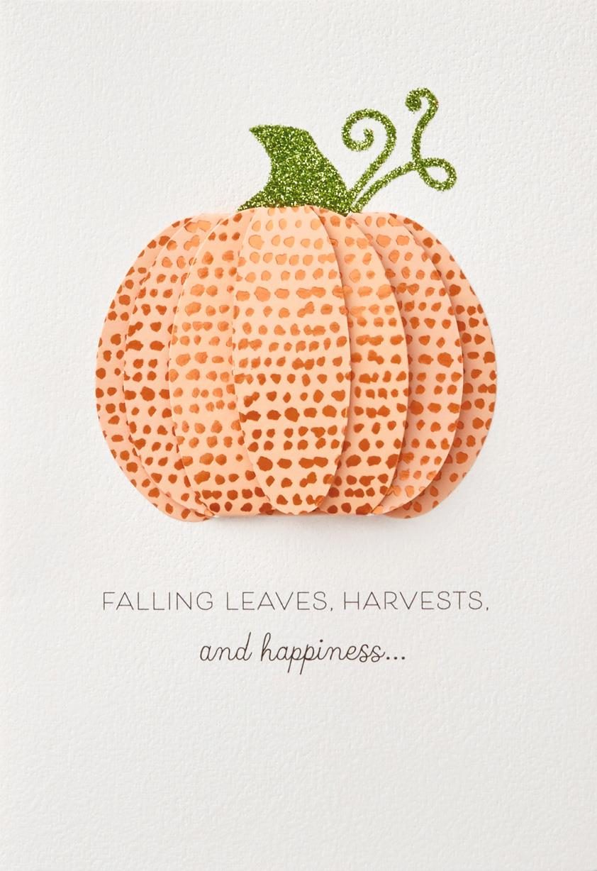 Harvest And Happiness Autumn Card Greeting Cards Hallmark