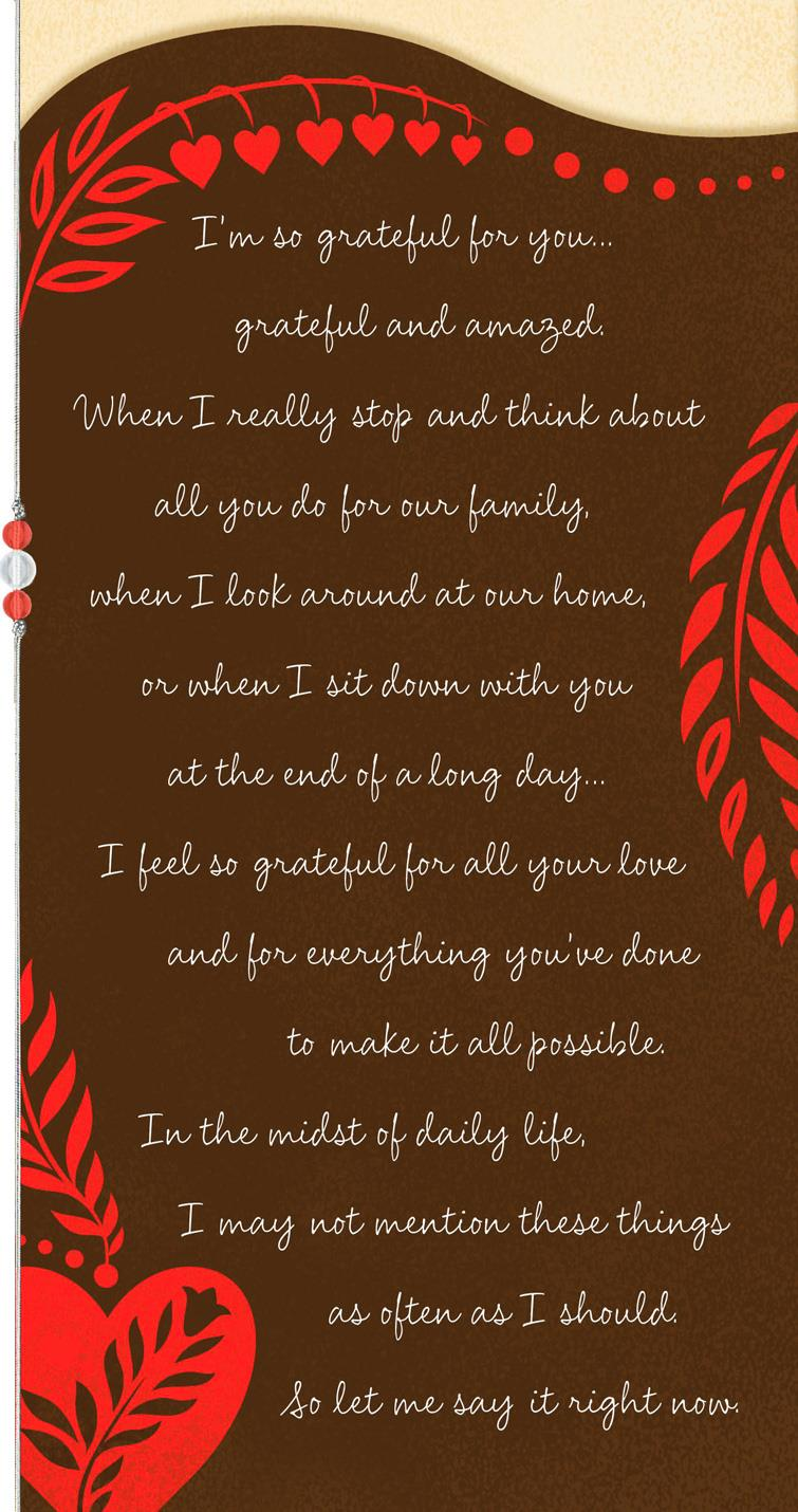 Grateful For You Valentines Day Card For Husband Greeting Cards