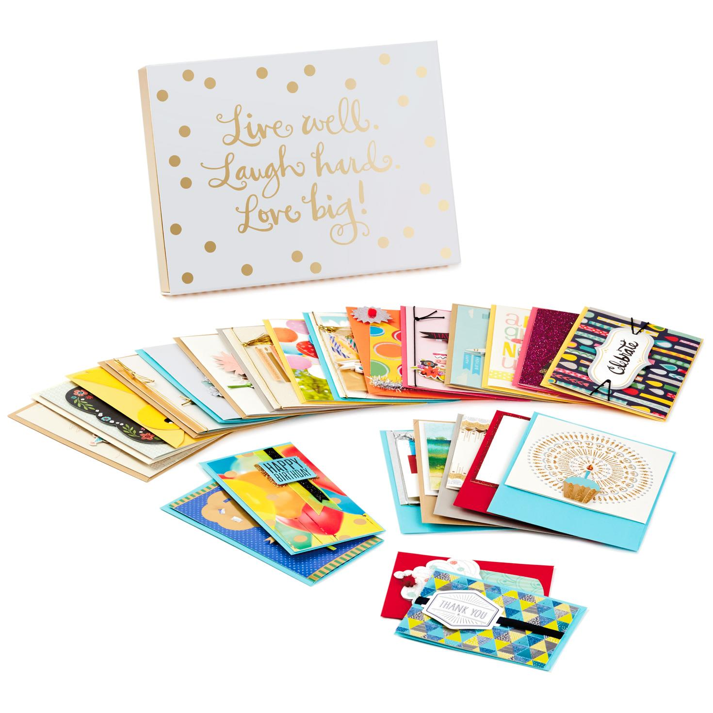 Assorted Everyday Cards, Box Of 24