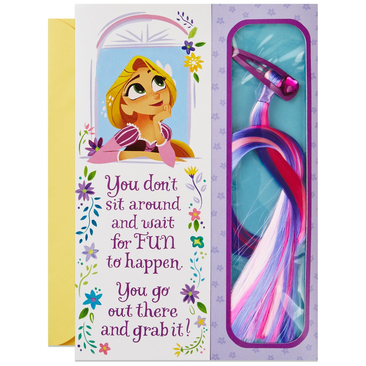 Tangled rapunzel youre amazing birthday card with hair extension tangled rapunzel youre amazing birthday card with hair extension clip bookmarktalkfo Image collections