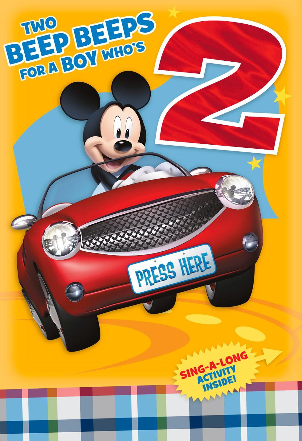Mickey mouse 2nd birthday card with sing along activity greeting mickey mouse 2nd birthday card with sing along activity m4hsunfo
