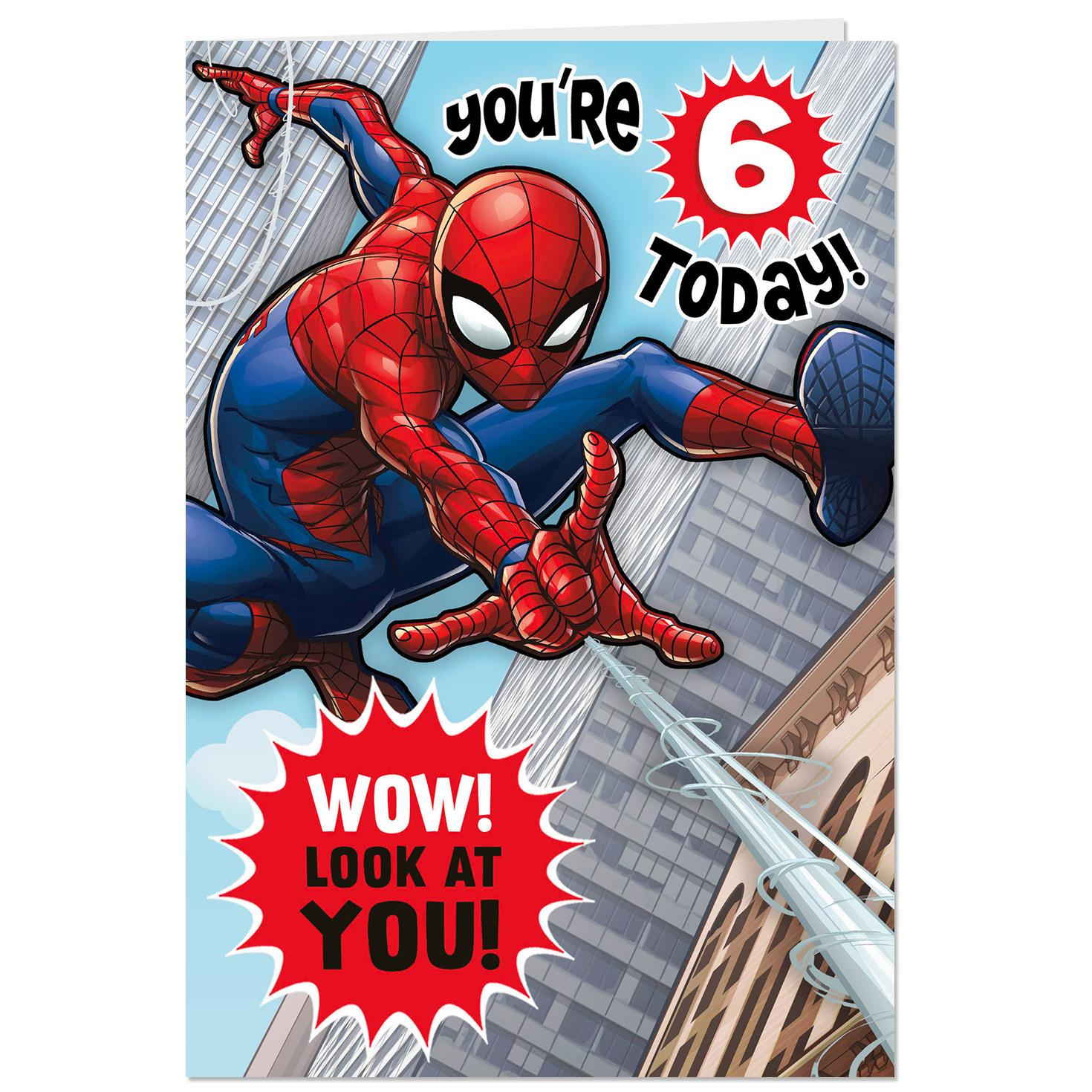 Spider Man Amazing Hero 6th Birthday Pop Up Birthday Card