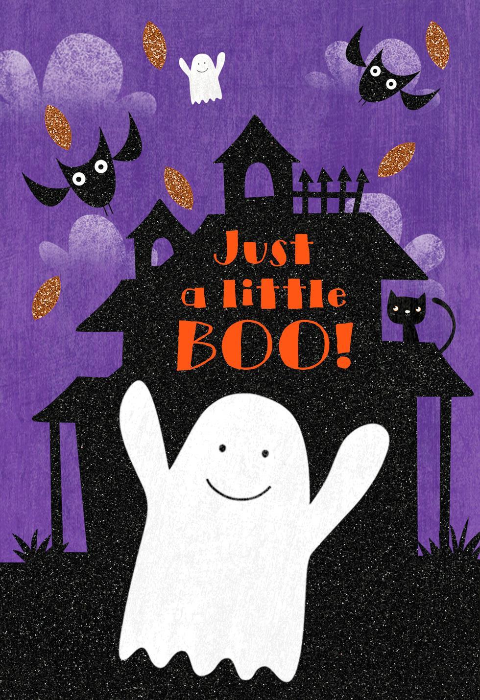 just a little boo halloween card greeting cards hallmark