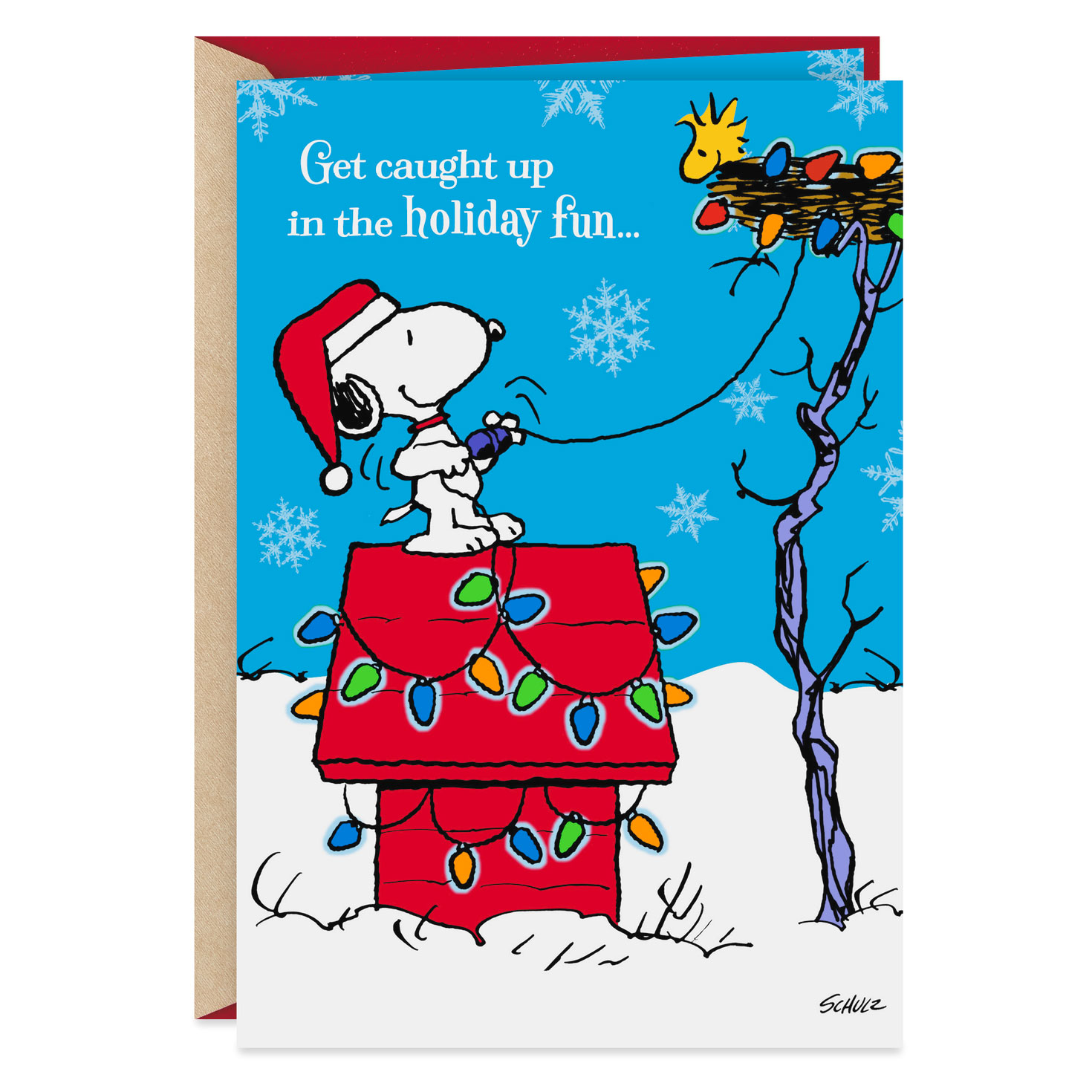 peanuts® snoopy holiday fun musical christmas card