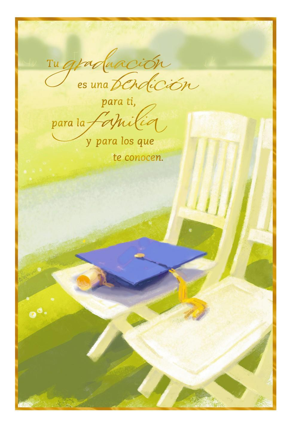 congratulations and blessings spanish language graduation card