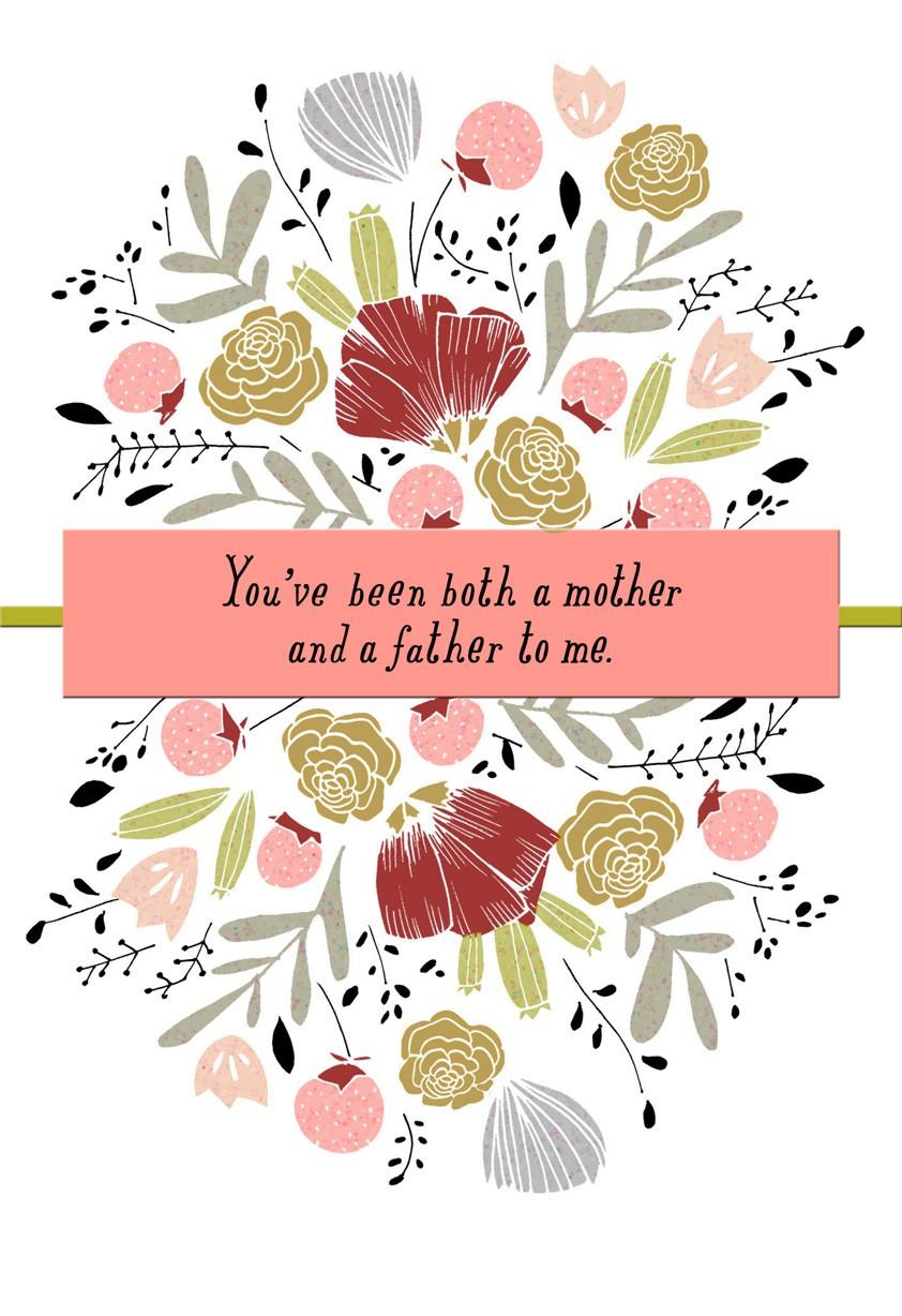 Thanks mom for being both parents fathers day card greeting cards thanks mom for being both parents fathers day card m4hsunfo