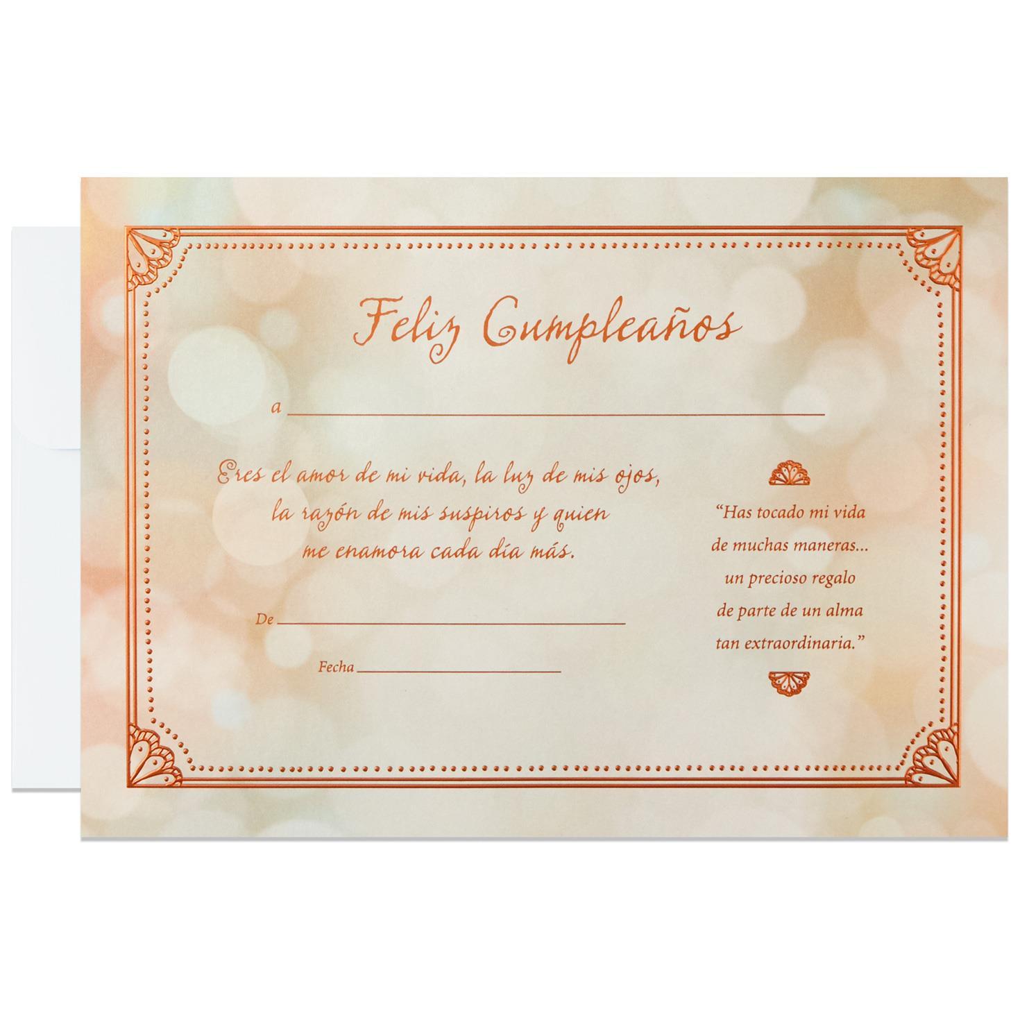 Love of My Life Spanish Language Birthday Card 12