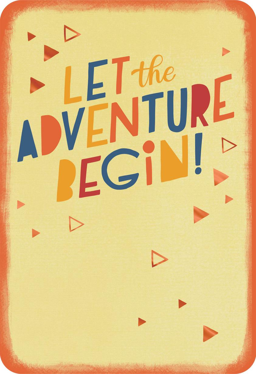 Let The Adventure Begin Congratulations Card Greeting