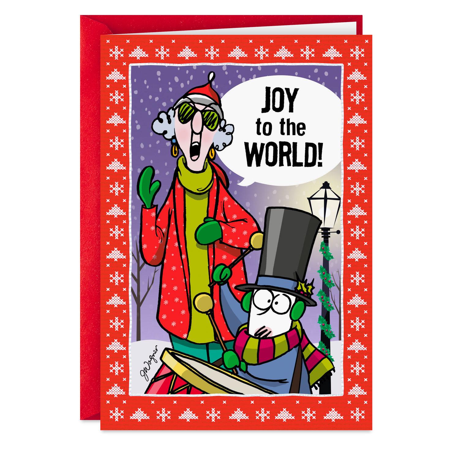 Maxine™ Joy To The People I Like Funny Christmas Card