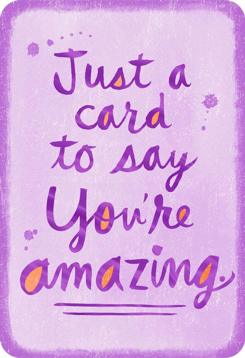 you u0026 39 re amazing thinking of you card