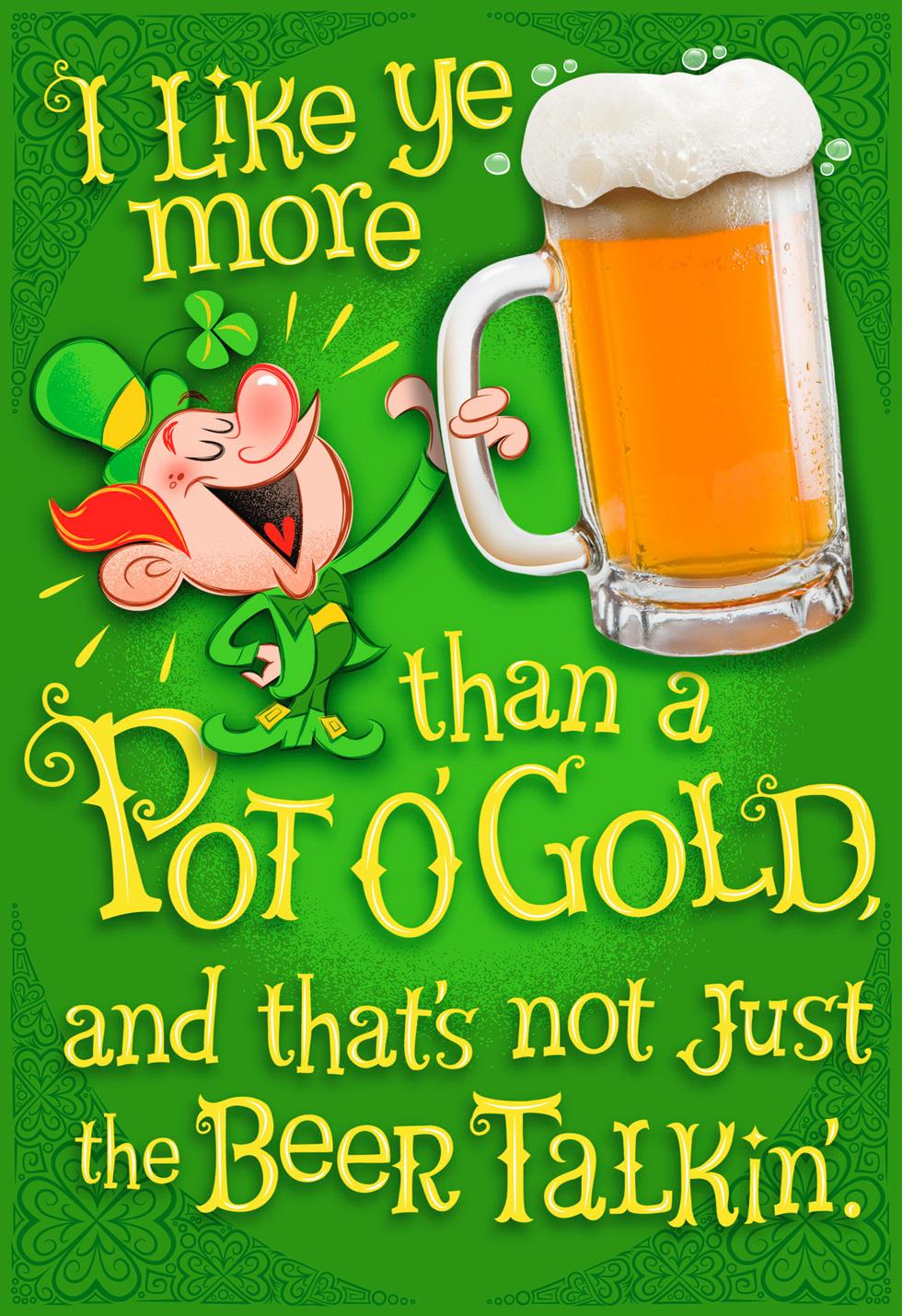 Drunk Leprechaun Funny Musical St Patrick S Day Card